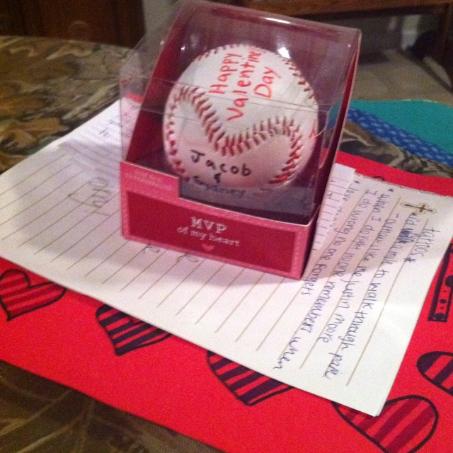 Valentines day heart stitched baseball would be an awsome tribute for ...