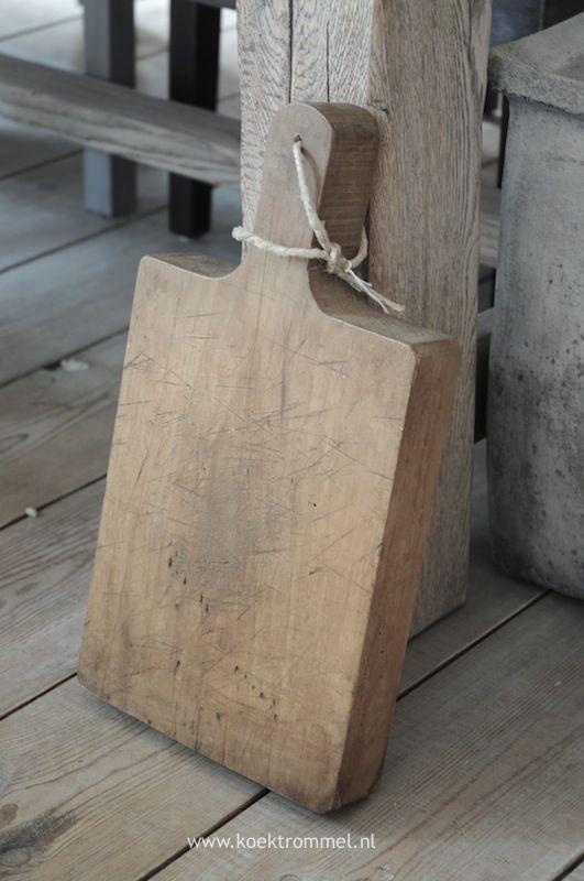 Oude stoere snijplank franse items pinterest - Keuken berghuisje ...