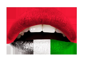 The UAE Flag temporary lip applique by Violent Lips. I now own these ;-)