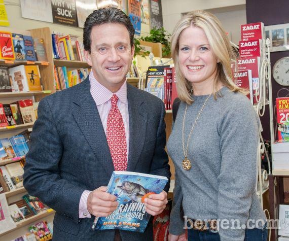 Bill evans with martha maccallum at bookends in ridgewood photo by