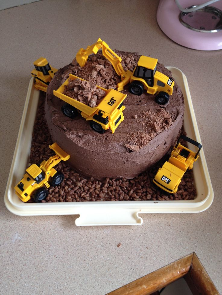 Birthday Cake Ideas Digger : Easy digger cake Parties: Construction Pinterest