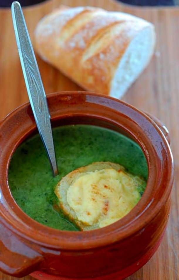 pea and spinach soup | Comida Saludable | Pinterest