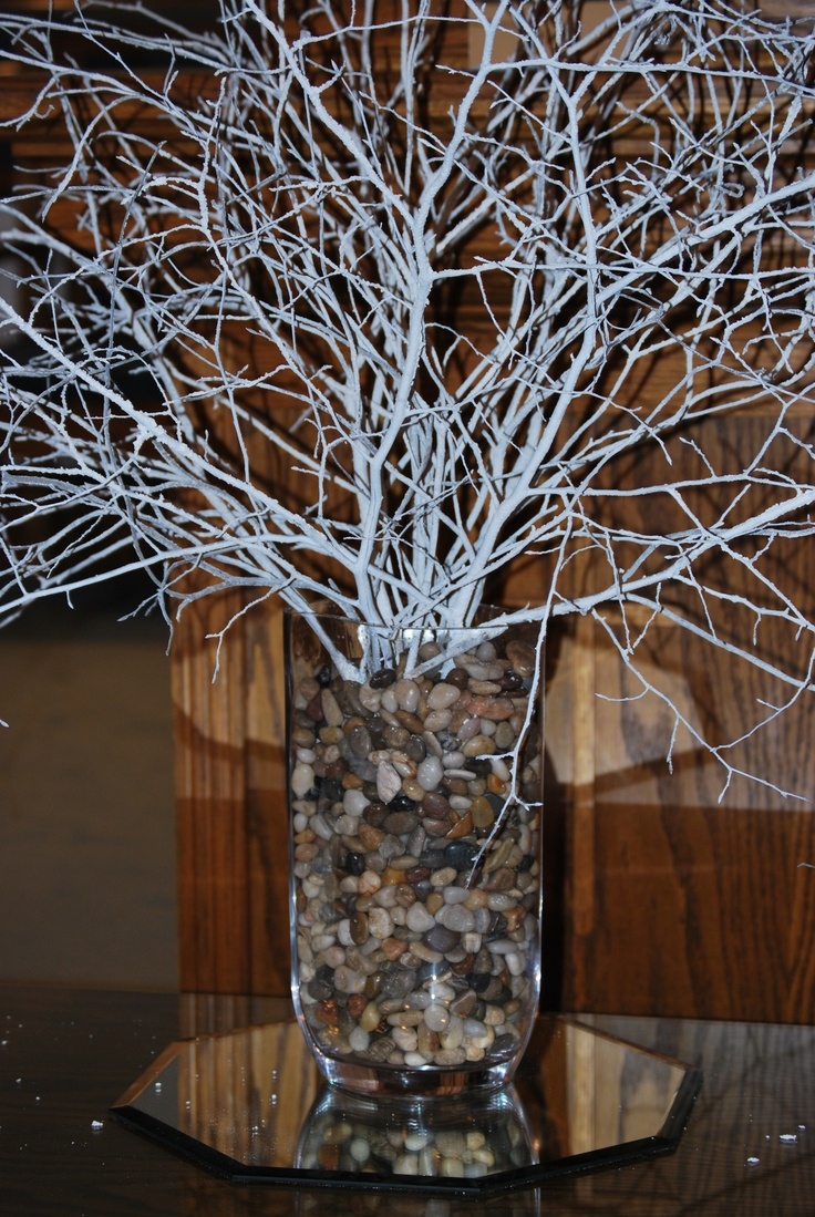 Pin by shanah kidder on parties and wedding ideas pinterest - White painted tree branches ...
