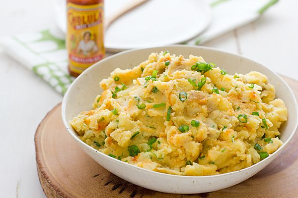 ... for Cholula and Cheddar mashed potatoes. Comfort food? Definitely