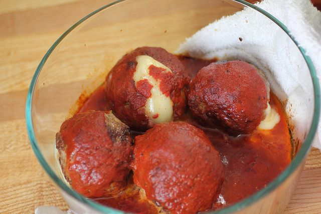 Giant cheese stuffed meatballs | Cooking - Meat Eater, Heart if the ...