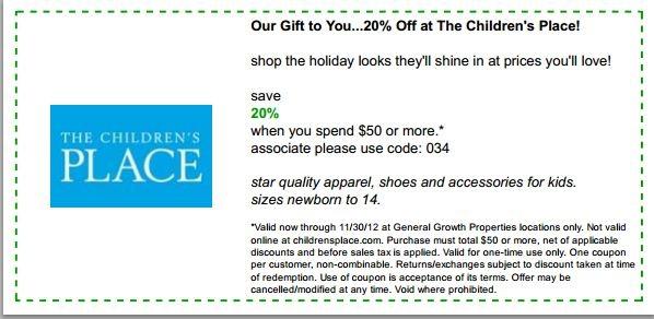 Renaissance child place coupon