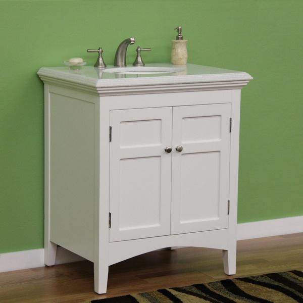 marble top 30 inch single sink vanity