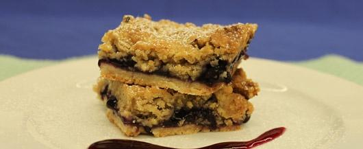 Blueberry Hazelnut Bars | Recipe
