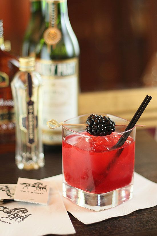 Caberet Cocktail from Colt and Gray with St. Germain Liqueur and Blac ...