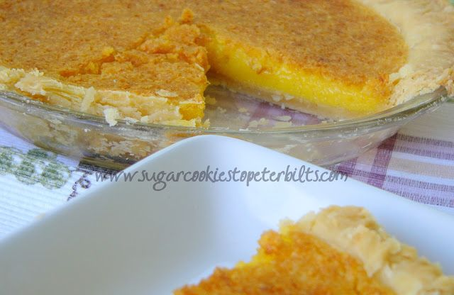 Sugar Cookies to Peterbilts: Meyer Lemon Chess Pie