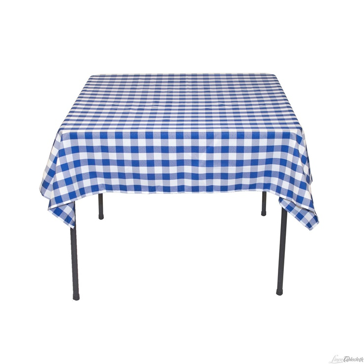 Buy 54 Inch Square, Blue U0026 White Checkered Tablecloth For Weddings .