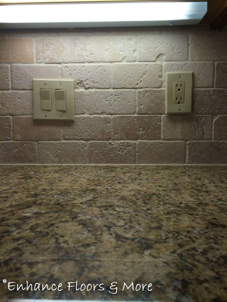 Tumbled Stone Backsplash Tile Stone Pinterest