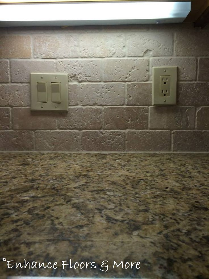 Tumbled Stone Backsplash Tile amp Pinterest