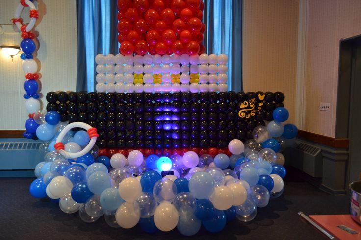 Disney Cruise Party Theme Balloon Ship  Nautical Theme