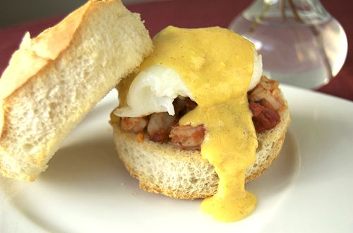 Shrimp Eggs Benedict | Culinary Content Network | Pinterest