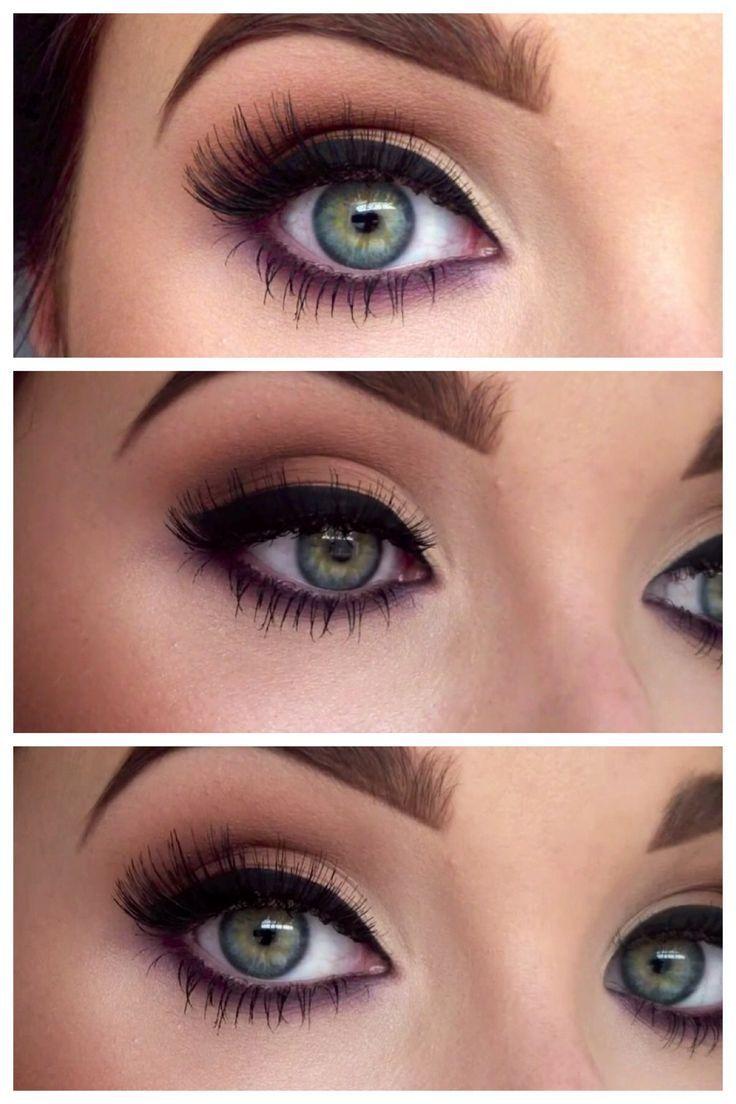 Зеленый макияж со стрелками