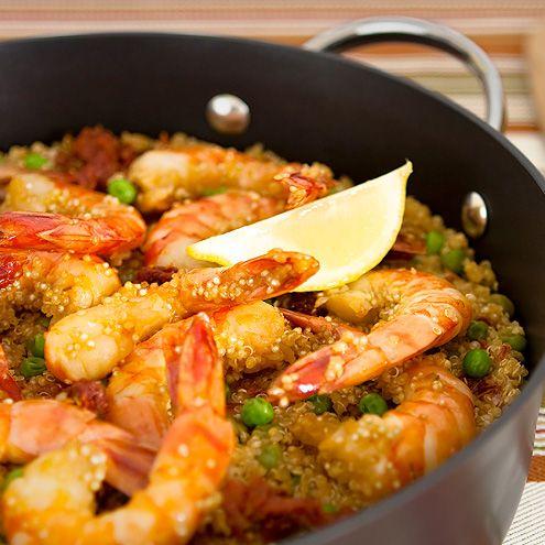Quinoa Paella with Shrimp | Good Eats | Pinterest