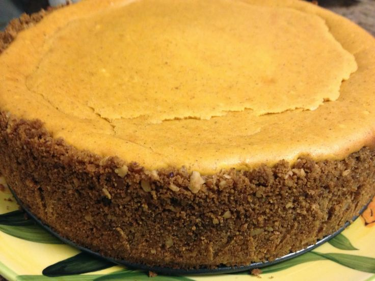 Pumpkin Cheesecake With Gingersnap & Pecan Crust Recipe — Dishmaps