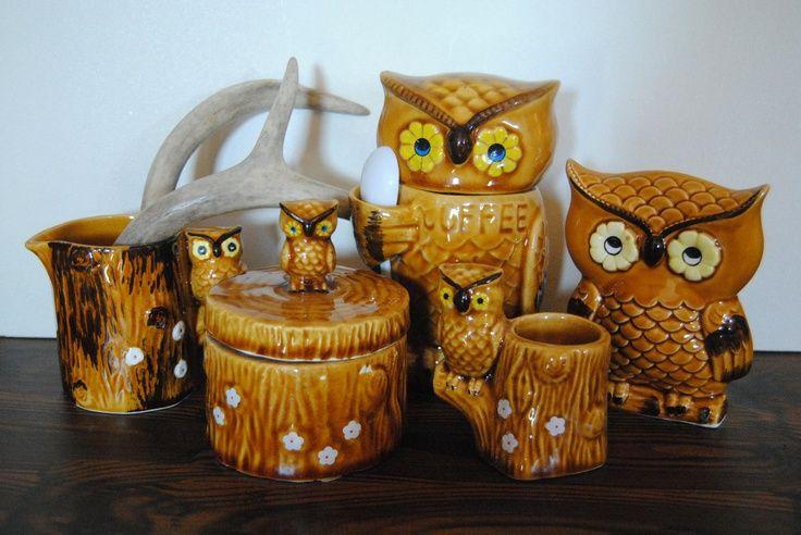 owl kitchen decor owl kitchen decor owl kitchen set 1960s 1970s