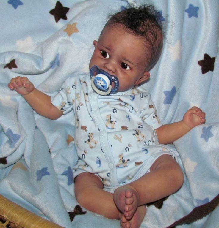 Reborn baby boy newborn preemie aa ethnic biracial ashton ...
