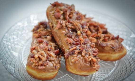Inspirational! Maple Bacon Long John from Blue Dot Donuts in Nawlins!