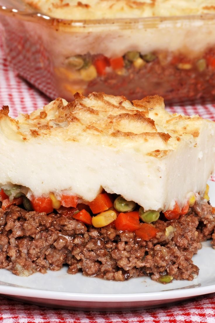30 Minute Shepherds Pie #Recipe: ground beef, peas & carrots in a ...