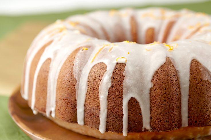 Cake - orange juice infused pound cake smothered with orange glaze ...
