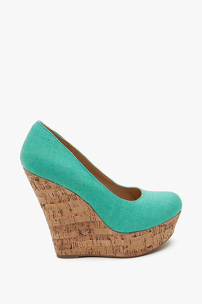 meroz linen closed toe cork wedge clothing