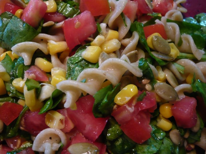 Roasted Corn and Tomato Pasta Salad | Recipe