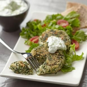 Feta and Spinach Couscous Patties