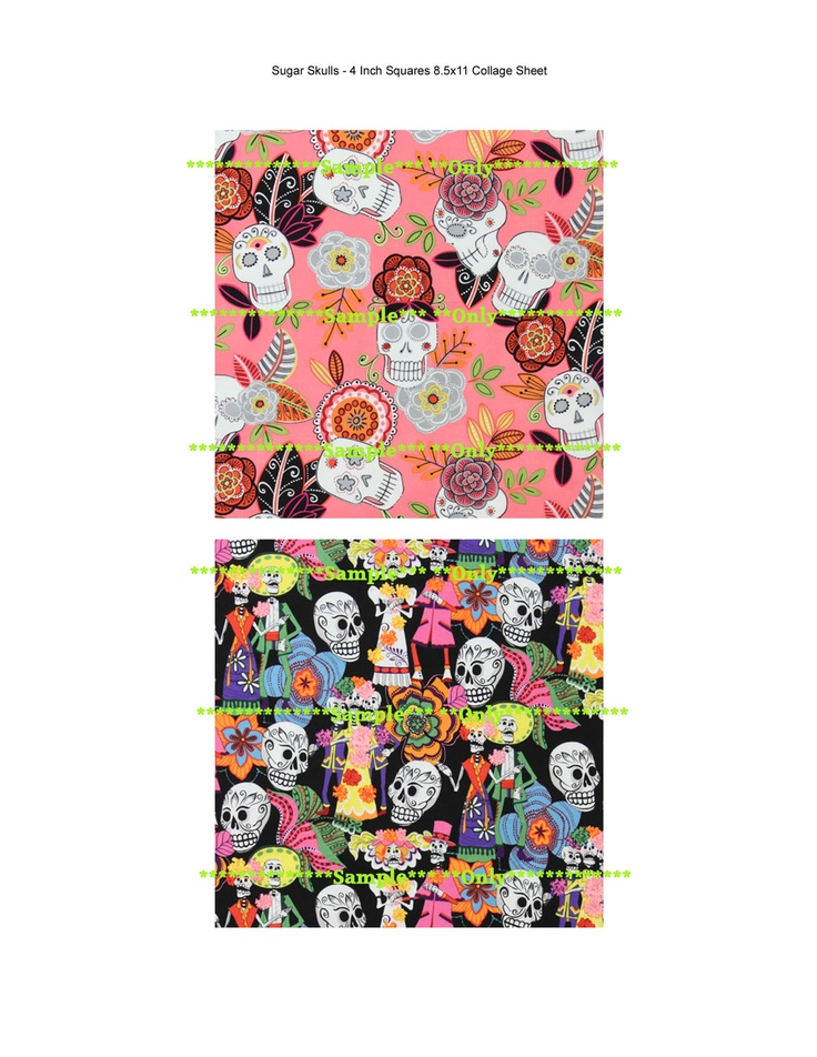 "... the Dead Skeletons DIY Large 4"" Inch Squares Collage Sheets via Etsy"