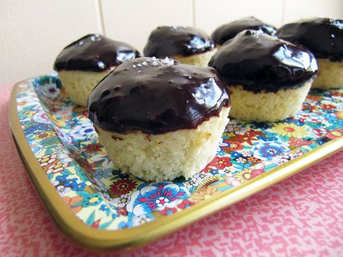 Olive Oil Mini Muffins with Dark Chocolate & Sea Salt