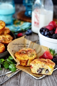 Southwest Baked Egg Breakfast Cups: refrigerated hash browns, eggs ...