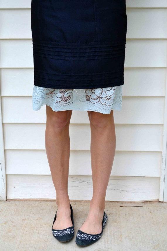 Baby blue slip extender skirt extender diy pinterest