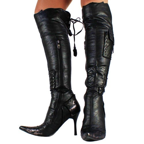 knee high pointy toe boots style file