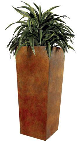 Tapered planter 42x18x18shown in Corten® Steel