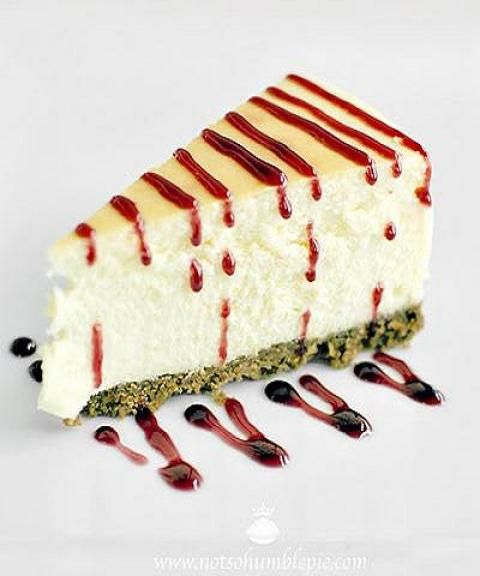 Orange Blossom Cheesecake with Pomegranate Honey by Not So Humble Pie