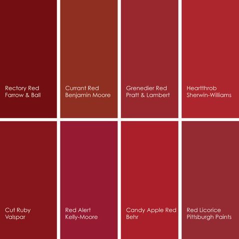 shades of red paint colors 2 pinterest