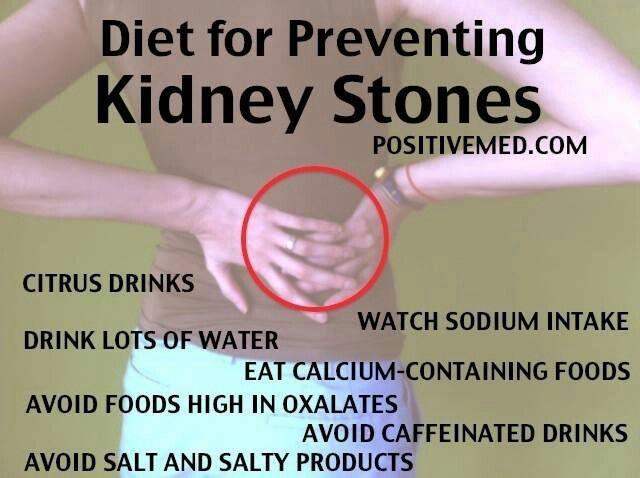 how to avoid kidney stones diet