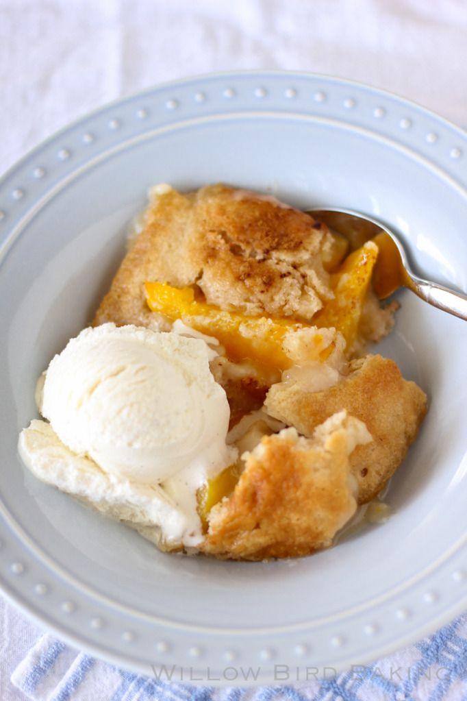Easy Peach Cobbler. | Cuisine | Pinterest