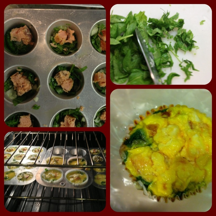 Egg spinach & salmon muffins. Easy, low calorie and high in protein ...