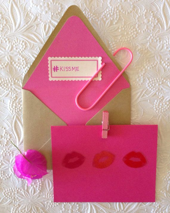 love kiss valentine's day pop up card template