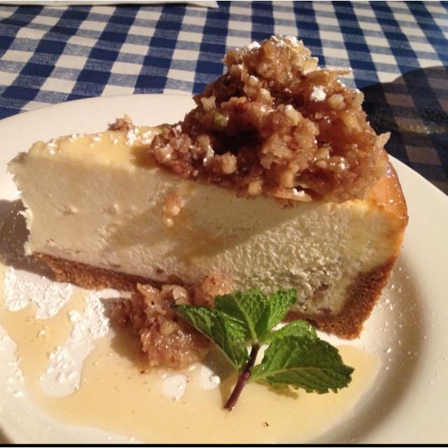 Baklava cheesecake at Yia Yia Mary's!!!! Yum!