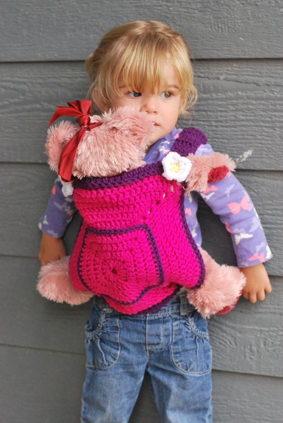 Crocheted Toddler Baby Doll Carrier