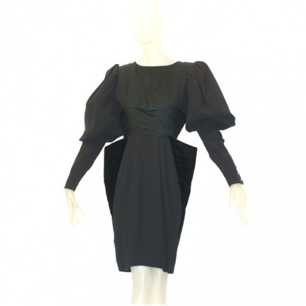 Hubert de Givenchy - 1980s Givechy Haute Couture Cocktail Dress
