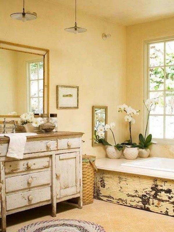 Country Style Bathroom Bathroom Pinterest