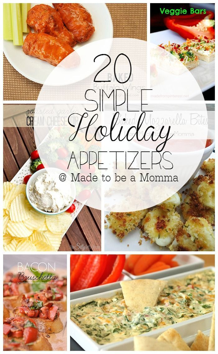 20 Simple Holiday Appetizers Recipes Pinterest