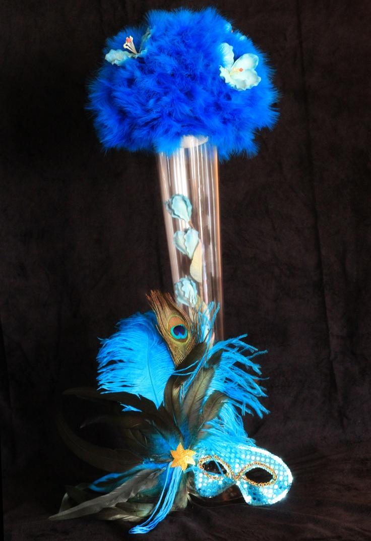 Masquerade theme tall centerpieces   TOA 2014   Pinterest