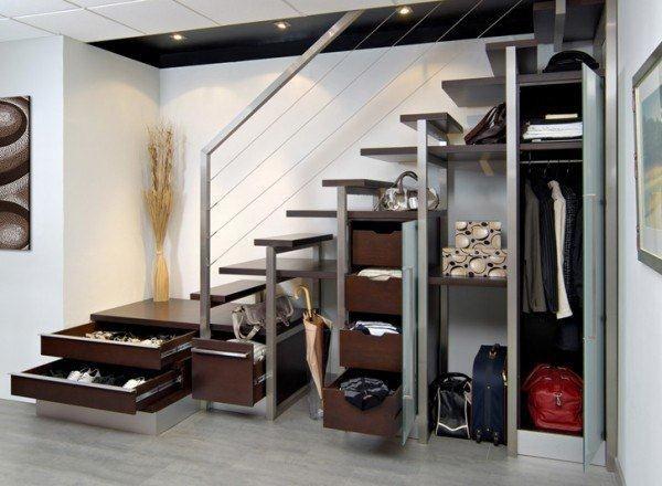 Escalier Palier-Tiroir  Staircase // Mezzanine // Ladder  Pinterest