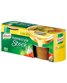 Chicken Stock by Knorr. These weird little jelly cups add a lot of ...